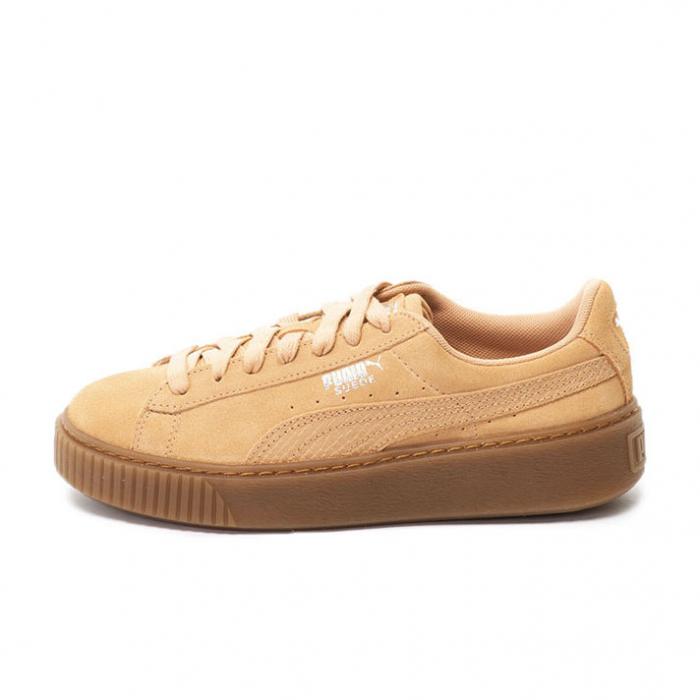 Puma Pantofi sport Suede Platform Animal de piele intoarsa, cu garnitura cu aspect piele de sarpe