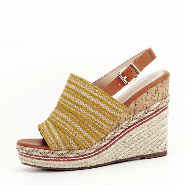 Sandale galbene cu platforma Lucia