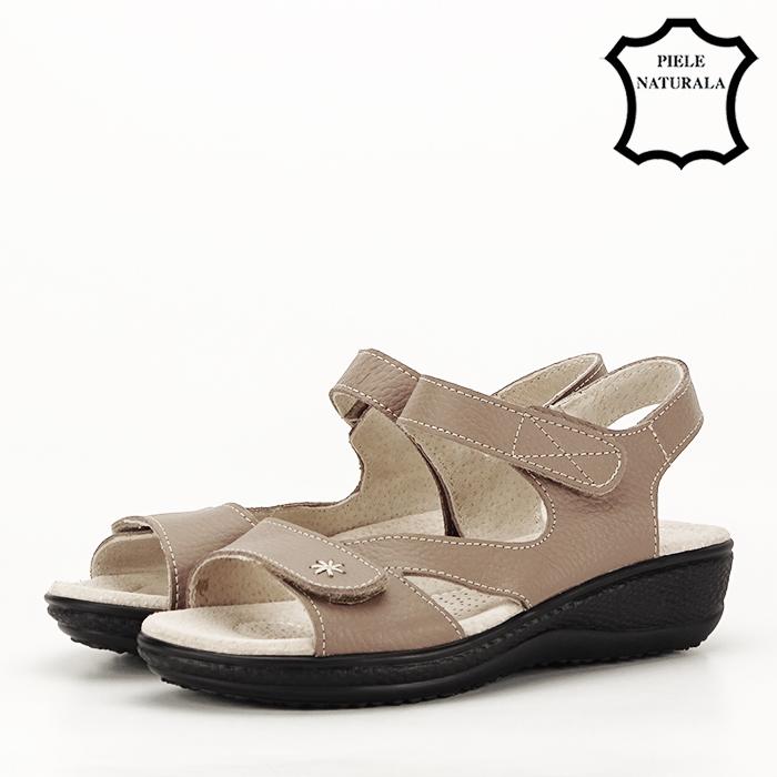 Sandale rosii din piele naturala Sara