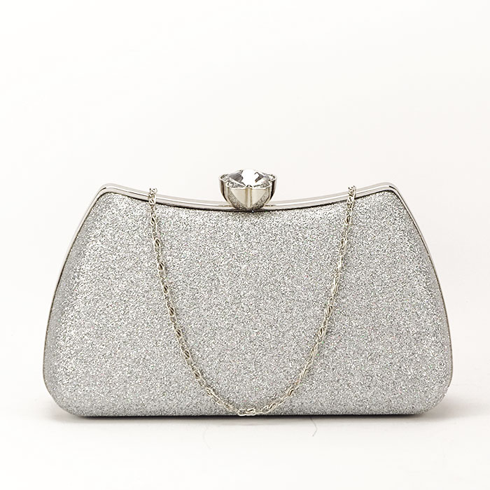 Geanta clutch argintiu Mia