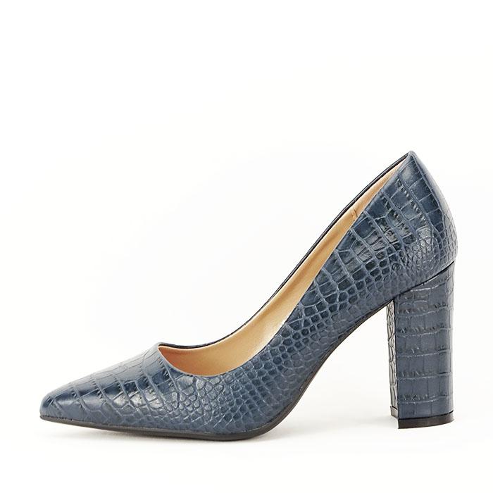 Pantofi bleumarin cu imprimeu Dalma