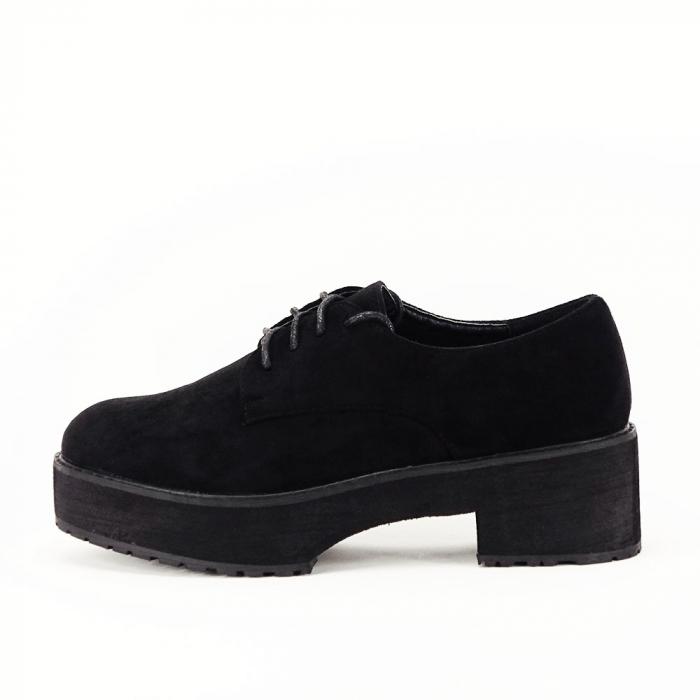 Pantofi oxford negri Miruna